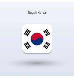 South Korea flag icon vector image