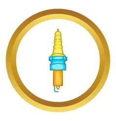 Spark plug icon vector