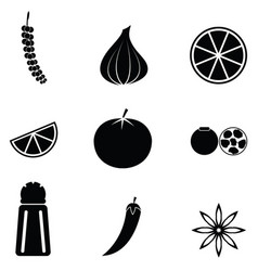 spices icon set vector image