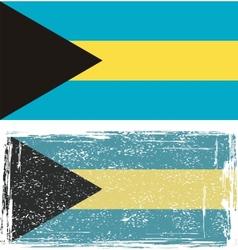 The bahamas grunge flag vector