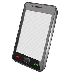 touch screen phone vector image vector image