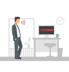 Voice control Smart computer vector image vector image