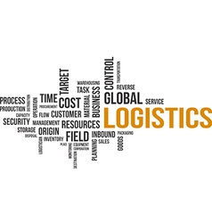 word cloud logistics vector image vector image