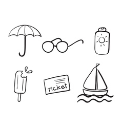 various objects vector image