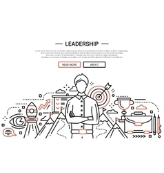 Leadership line flat design website banner vector image