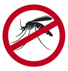 Stop mosquito sign vector