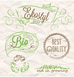 Elements eco-style vector