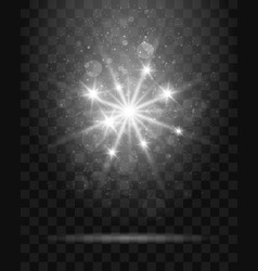 shining star on transparent background vector image