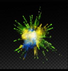 Vibrant paint blast vector