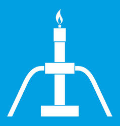Gas flaring icon white vector