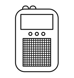 portable radio icon outline style vector image