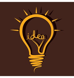 Idea bulb design vector