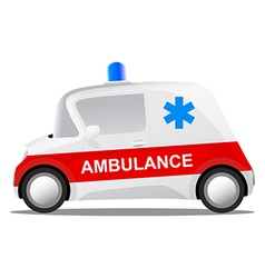 Mini car cartoon ambulance vector