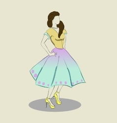 Sketch of the dress vector