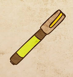 Fountain pen cartoon vector