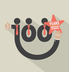100 years anniversary typography design vector