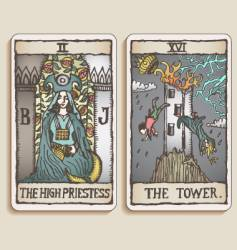 tarot cards vector image