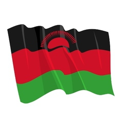 Political waving flag of malawi vector