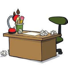 designer table vector image