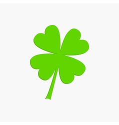 Clover leaf four petal green clover flat design vector