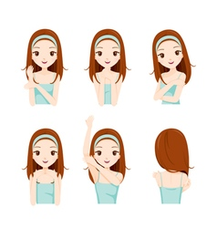 Girl care skin and body set vector