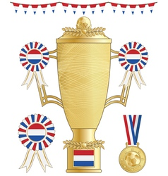 Netherlands football trophy vector