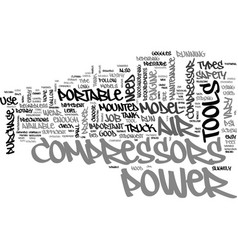 A guide to portable air compressors text word vector