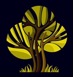 Artistic stylized natural symbol creative tree ca vector