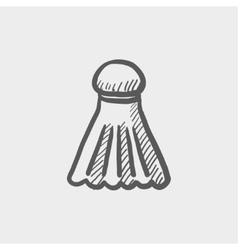 Badminton shuttlecock sketch icon vector
