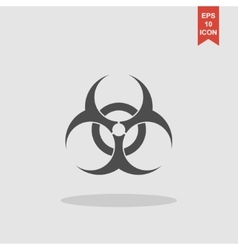 Bio hazard icon - web vector image