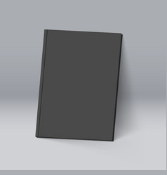 black book for design mockup template vector image vector image