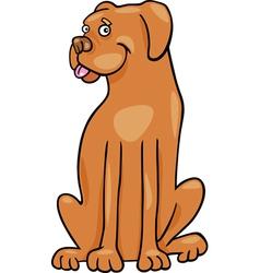 boxer dog cartoon vector image vector image