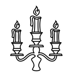 Candelabra candle icon outline style vector