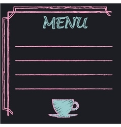 Chalkboard frame with place for menu text vector image vector image