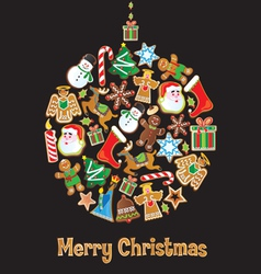 christmas cookie ornament vector image vector image