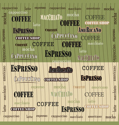 Coffee wallpaper green brown vector