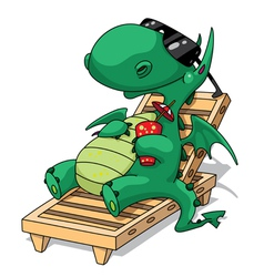 funny relaxation dragon vector image