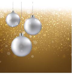 golden christmas banner vector image