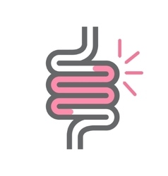 Intestine symbol or icon vector