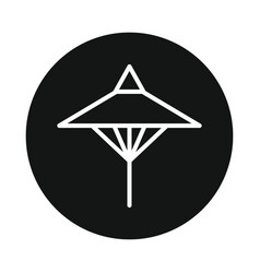 Japan umbrela icon isolated on white background vector