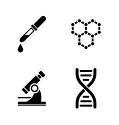 Laboratory simple related icons vector