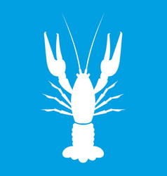 Lobster icon white vector