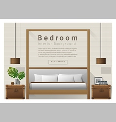 Modern bedroom background Interior design 9 vector image vector image