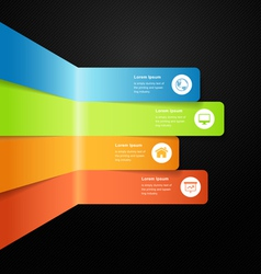 Modern full color info graphic bar vector image vector image