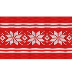 Nordic knitting pattern vector