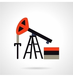 Oil extraction flat icon vector