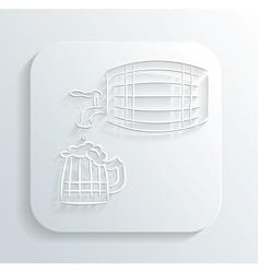 Oktoberfest beer keg icon vector image vector image