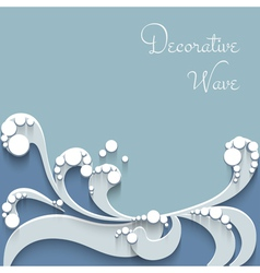 Paper wave background vector