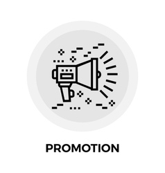 Promotion Line Icon vector image vector image