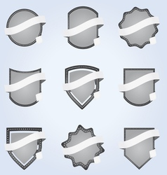 ribbon banner labels vector image vector image